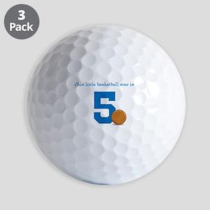 Basketball Star Custom Age Golf Balls