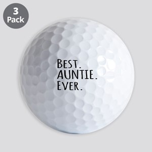 Best Auntie Ever Golf Balls