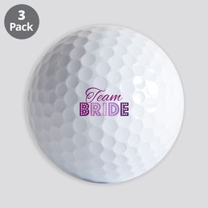 Team Bride in purple and pink Golf Balls