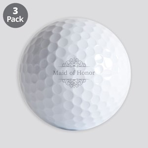 Maid of Honor in silver Golf Balls