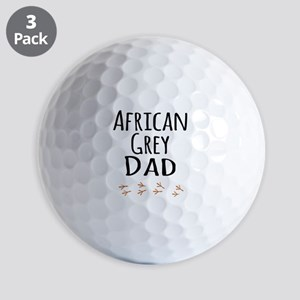 African Grey Dad Golf Ball