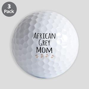 African Grey Mom Golf Ball