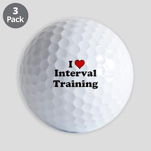 I Heart Interval Training Golf Ball
