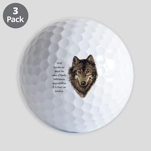 Wolf Totem Animal Guide Watercolor Nature Art Golf