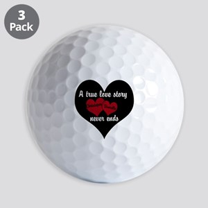 Personalize True Love Story Golf Ball