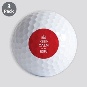 Keep Calm Im An ESFJ Golf Ball