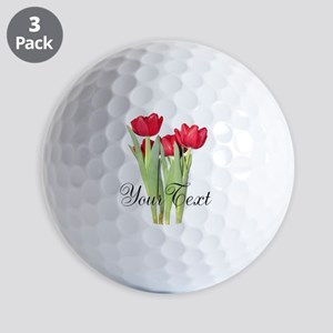 Personalizable Tulips Golf Ball