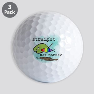 Straight But Not Narrow Golf Balls
