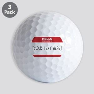 Name Tag Big Personalize It Golf Ball