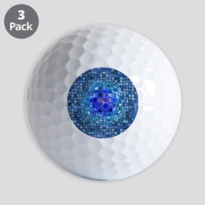 Optical Illusion Sphere - Blue Golf Balls