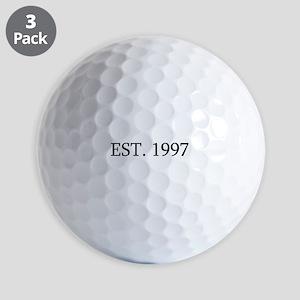 Est 1997 Golf Balls