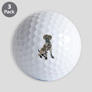 Brindle Great Dane Pup Golf Balls