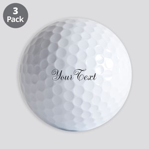Personalizable Black Script Golf Ball