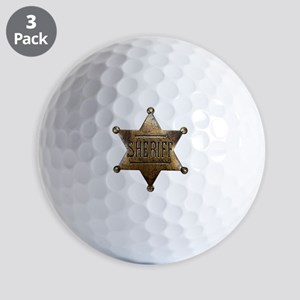Sheriff Badge Golf Ball