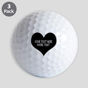 Black heart Golf Ball