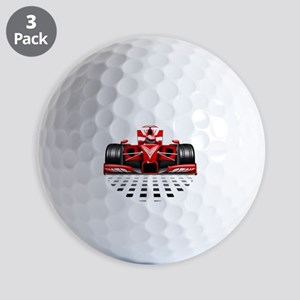 Formula 1 Red Race Car Golf Ball