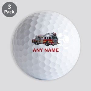 FIRETRUCK with Any Name or Text Golf Ball