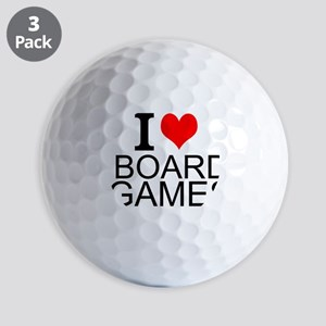 I Love Board Games Golf Ball