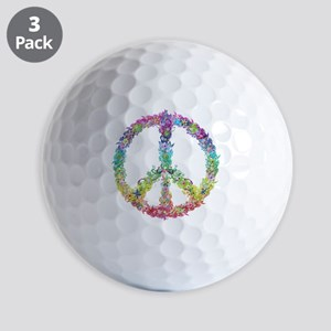 Peace of Flowers Golf Ball