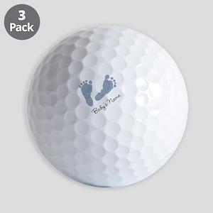 Baby Blue Footprints Golf Ball