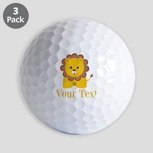 Personalizable Little Lion Golf Ball