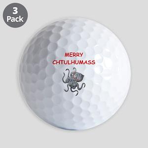 a chtulhu christmas Golf Ball