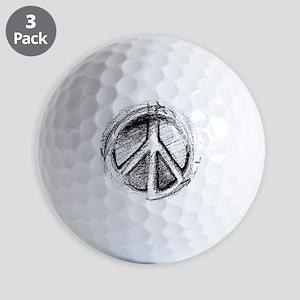 Urban Peace Sign Sketch Golf Balls