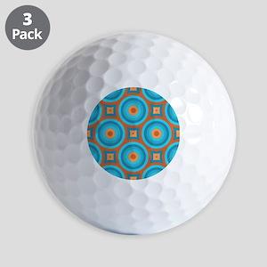 Orange and Blue Mid Century Modern Golf Ball