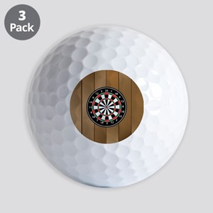Darts Board On Wooden Background Golf Ball