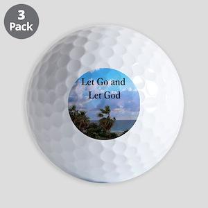 LET GO AND LET GOD Golf Balls