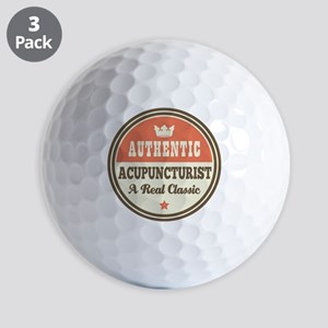 Acupuncturist Funny Vintage Golf Balls