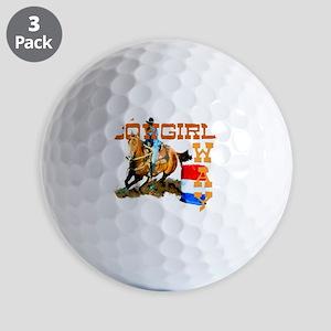 cowgirl way 2 Golf Balls