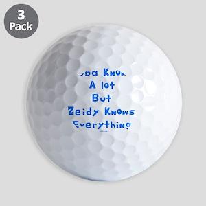 zeidy Knows Everything 2 flat Golf Balls