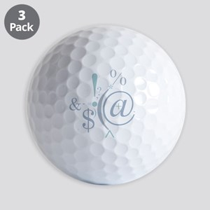 Punctuation Art Golf Balls