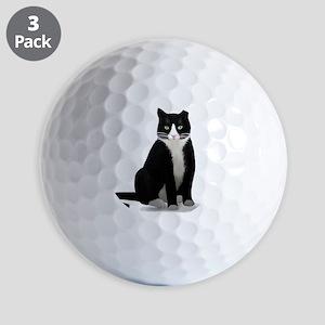 Tuxedo Kitty Cat Golf Balls