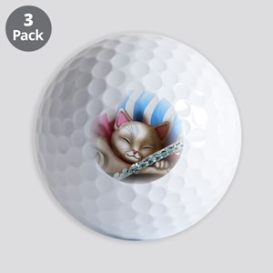 Napping Cat and Flute Golf Balls