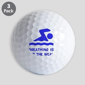 Breathing Weak Blue Golf Balls