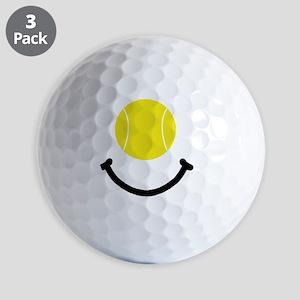 FBC Tennis Smile Black Golf Balls