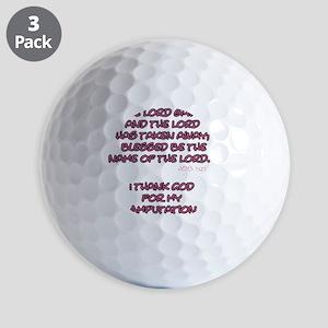 The Lord Gives... Amputee Shirt Golf Balls