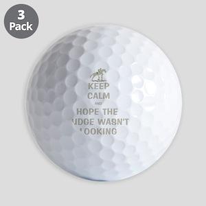 Funny Keep Calm Horse Show Golf Balls