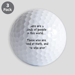 Math People Black Golf Balls