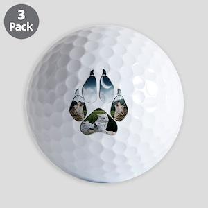 Wolf Print Golf Balls