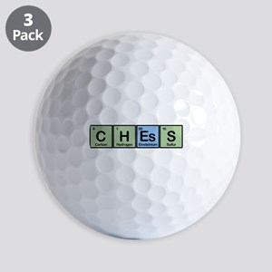 Chess Made of Elements Golf Balls