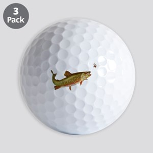Vintage trout fishing illustration Golf Ball