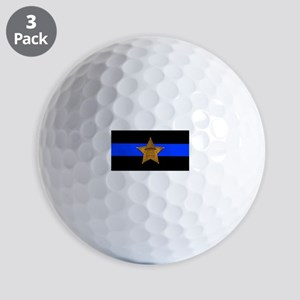 Sheriff Thin Blue Line Golf Ball