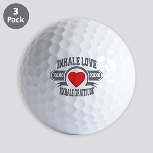 Inhale Love, Exhale Gratitude Golf Balls