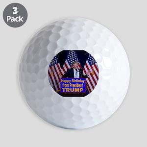 Happy Birthday from President Trump Golf Balls