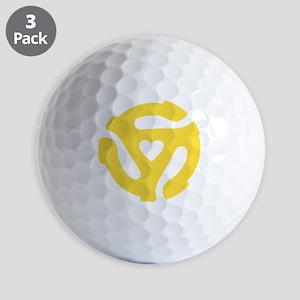 45 Record Adapter Golf Balls