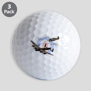 Spitfire and Lancaster Golf Ball
