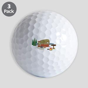 Camping Trailer Golf Ball